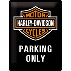 Tablica Retro Metalowa - Harley Davidson Parkin Only