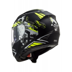 Kask LS2 FF397 Vector Stencil Black/H-V Yellow